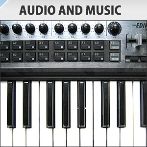 Audio and Music: Keyboard with knobs